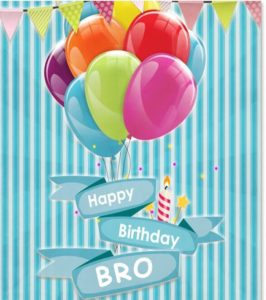 Happy Birthday bro greeting card, images, wallpaper