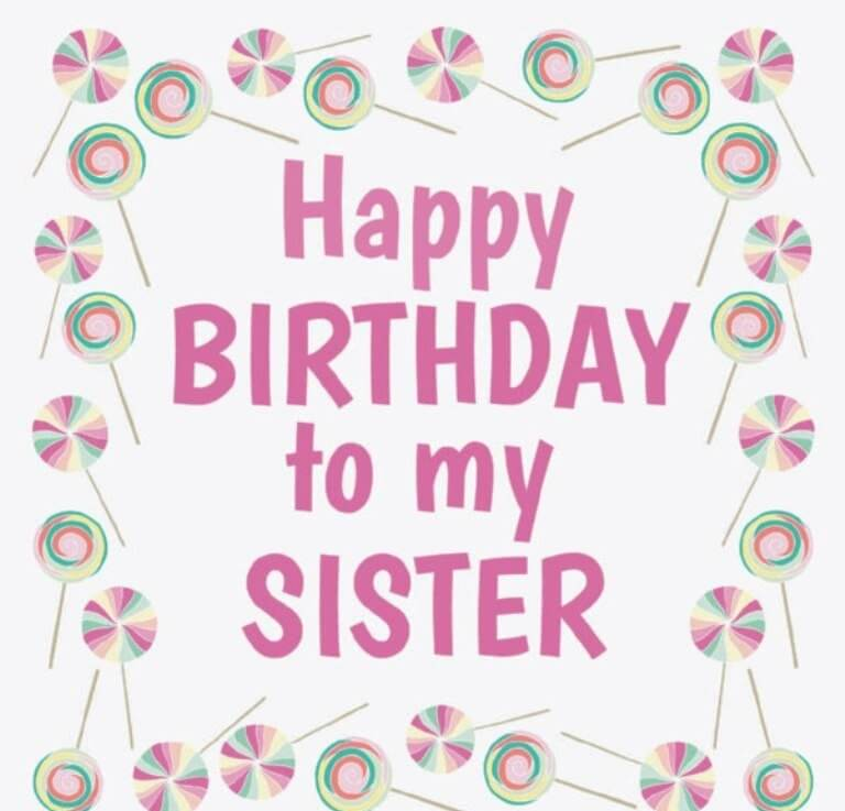 Happy Birthday Sister Wishes Messages Cake Images Quotes – Happy Birthday Card to My Sister