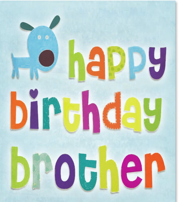 Happy birthday brother wishes quotes cake images messages the happy birthday greeting card for brother handmade m4hsunfo