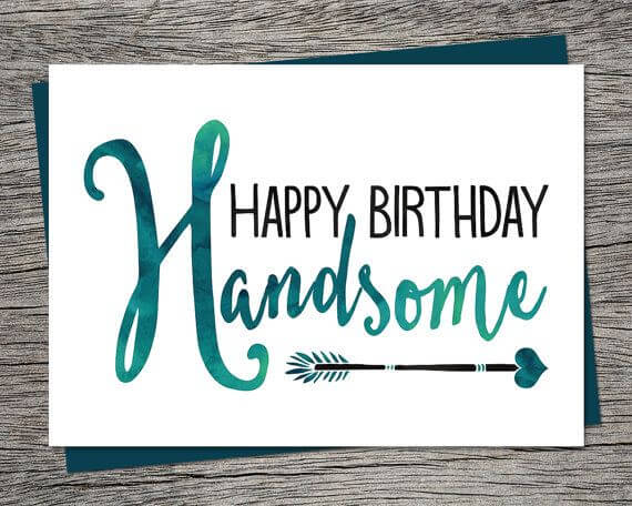 Happy birthday boyfriend cake images wishes quotes greeting happy birthday handsome boyfriend greeting card bookmarktalkfo Choice Image