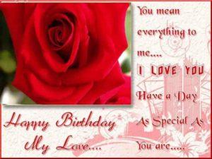 happy birthday boyfriend wishes love red rose