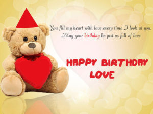 happy birthday quotes for boyfriend teddy image love