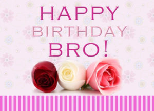 happy birthday wishes for brother roses image