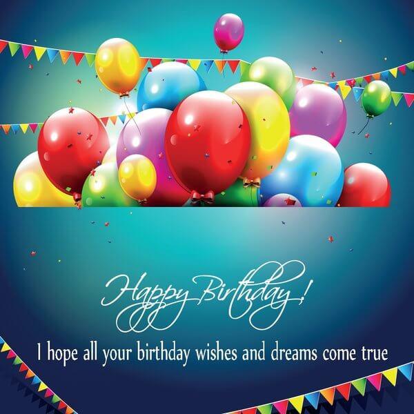 Happy birthday friend wishes quotes cake images messages the happy birthday friend greeting cards balloon wishes m4hsunfo