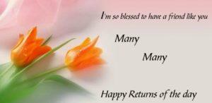 Happy Birthday Friend wishes flower image