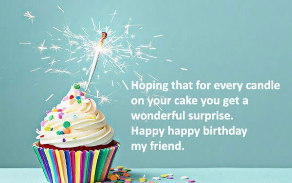 Happy Birthday Friend Wishes Quotes Cake Images
