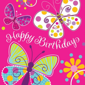 happy birthday wishes for gf butterfly image