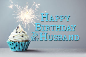 happy birthday cake muffin candle image for husband
