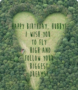 happy birthday big heart nature image for husband with quote