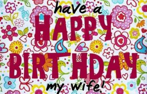 happy birthday greeting card wishes for wife