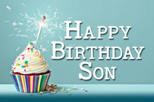 happy birthday cake greeting card for son