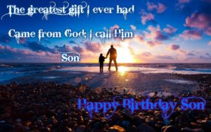 happy birthday wishes image for son from dad
