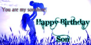 happy birthday son and mother love image