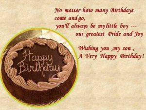 happy birthday cake images for son with quotes