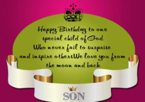 happy birthday son wishes greeting card