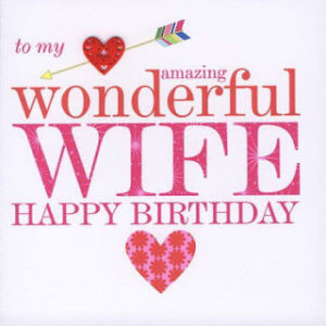 happy birthday wife heart love image, photo