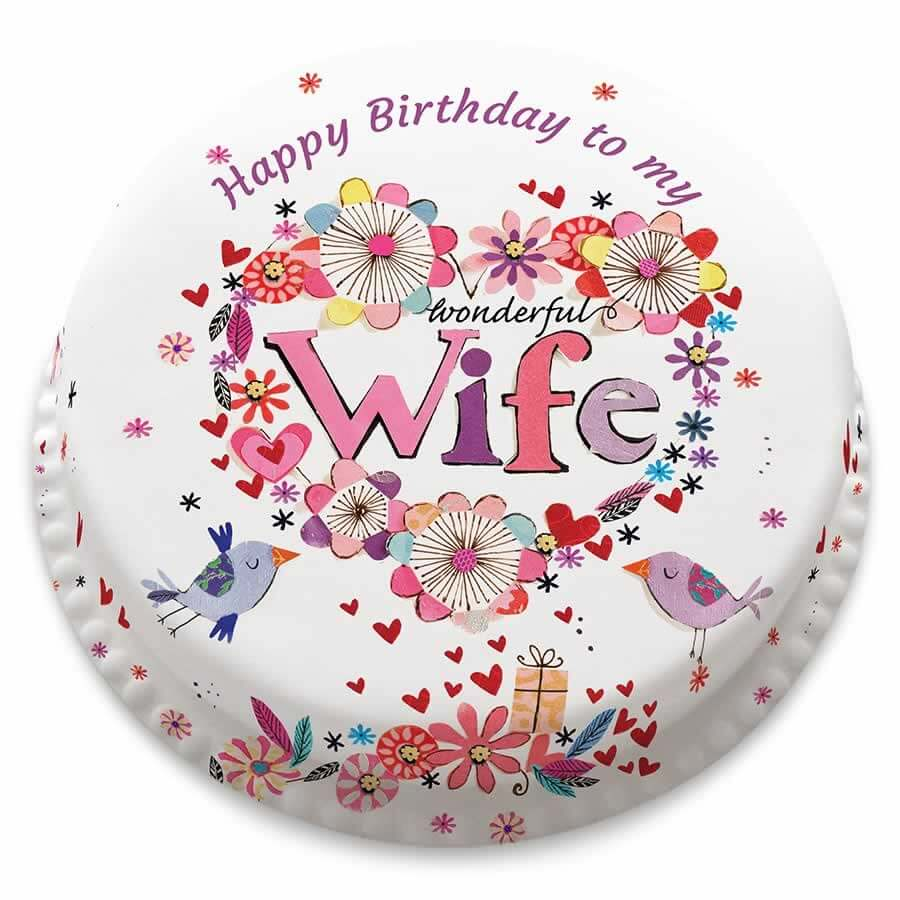 Happy Birthday Wife Wishes Cake Images Greeting Cards Quotes