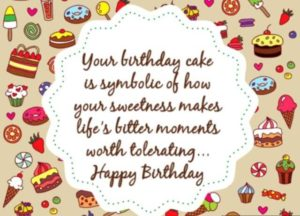 happy birthday quote image for wife greeting card