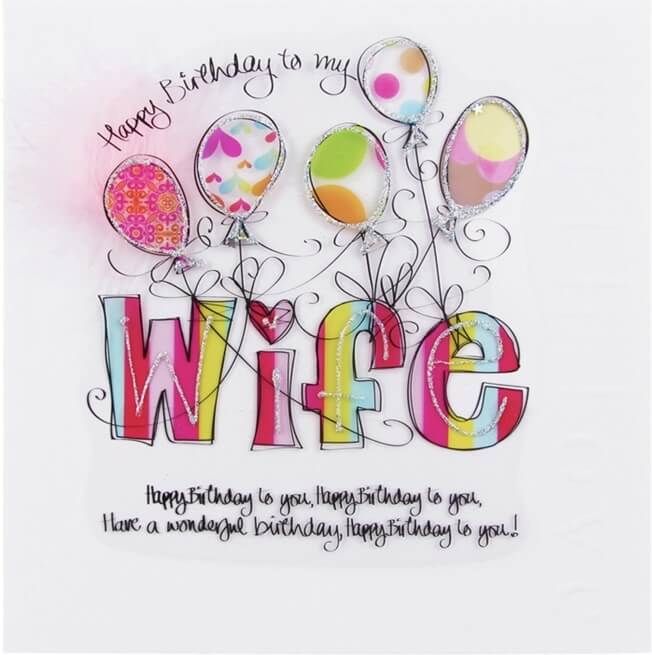 Happy birthday wife wishes cake images greeting cards quotes happy birthday greeting card for wife balloon m4hsunfo
