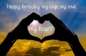 happy birthday heart images for wife