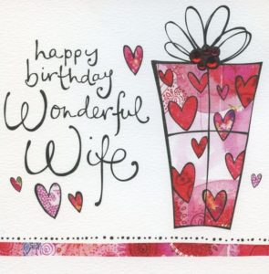 happy birthday wife present gift image, greeting cards