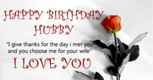 happy birthday wishes for husband image