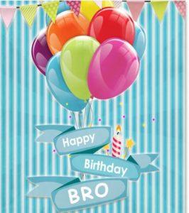 Happy Birthday bro greeting card, images, wallpaper
