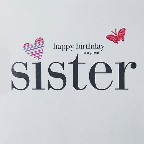 Happy Birthday Sis Butterfly Wishes