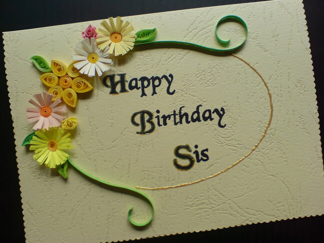 Happy Birthday Card Wishes for Sister