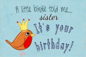 Happy Birthday Sister greeting card image, wallpaper