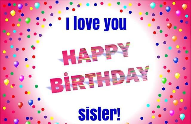 Happy Birthday Poster Wishes for Sister