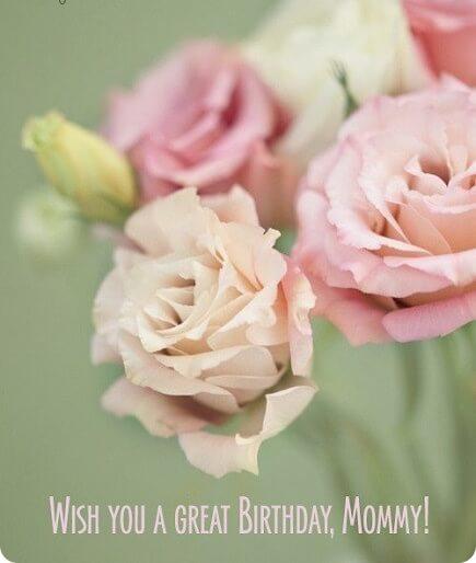 Happy Birthday Wish Flower Mom