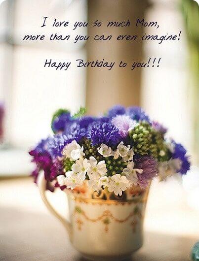 Happy Birthday Wish Flowerpot Mom