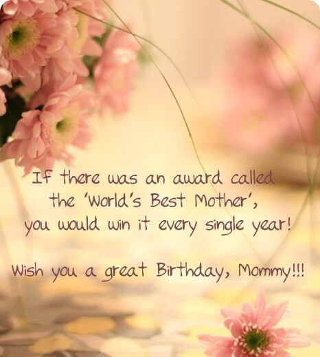 Happy Birthday Message Wish for Mom