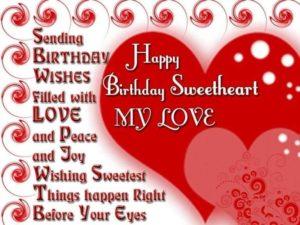 Happy Birthday Sweetheart Wishes for Boyfriend
