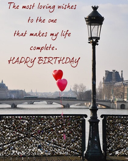 Happy Birthday Wish Lock Bridge For Boyfriend