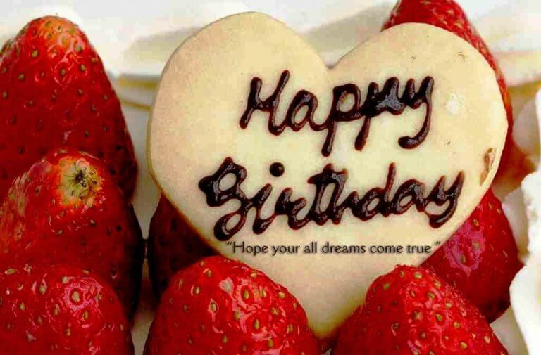 Happy Birthday Strawberry Heart Wish Boyfriend