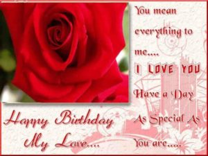 happy birthday boyfriend wishes love red rose