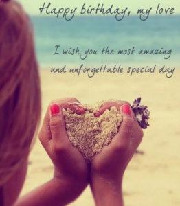 Happy Birthday Sand Heart for Boyfriend