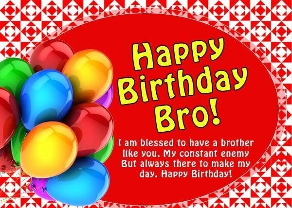 Happy Birthday Brother Balloon Wishes