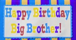 happy birthday greeting card for big brother