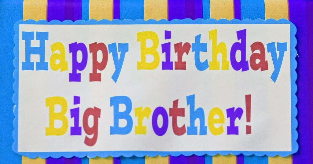 Happy Birthday Brother Banner Wishes