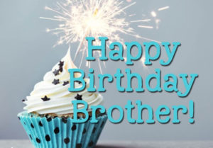 happy birthday brother birthday candles and cake image