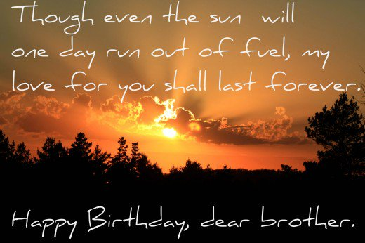 Happy Birthday Sayings for Brother