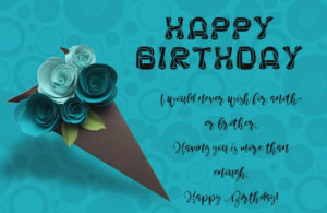 happy birthday wishes for brother image
