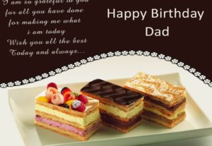 Happy Birthday Dad wishes cake image, photo HD