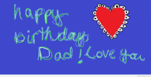 Happy Birthday Dad with Heart