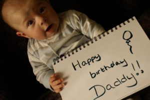 Happy Birthday Daddy from cute baby