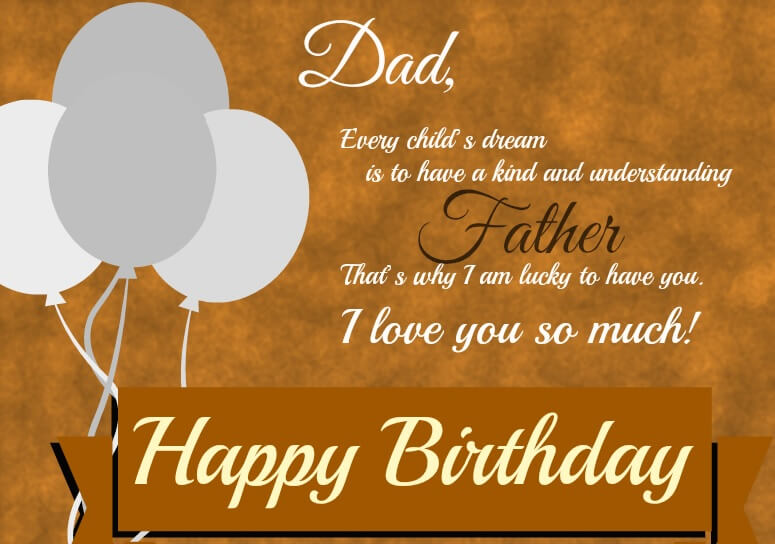 Happy Birthday Greetings for Dad