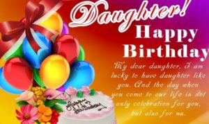 Happy Birthday Daughter Wishes Cake Images Messages Quotes